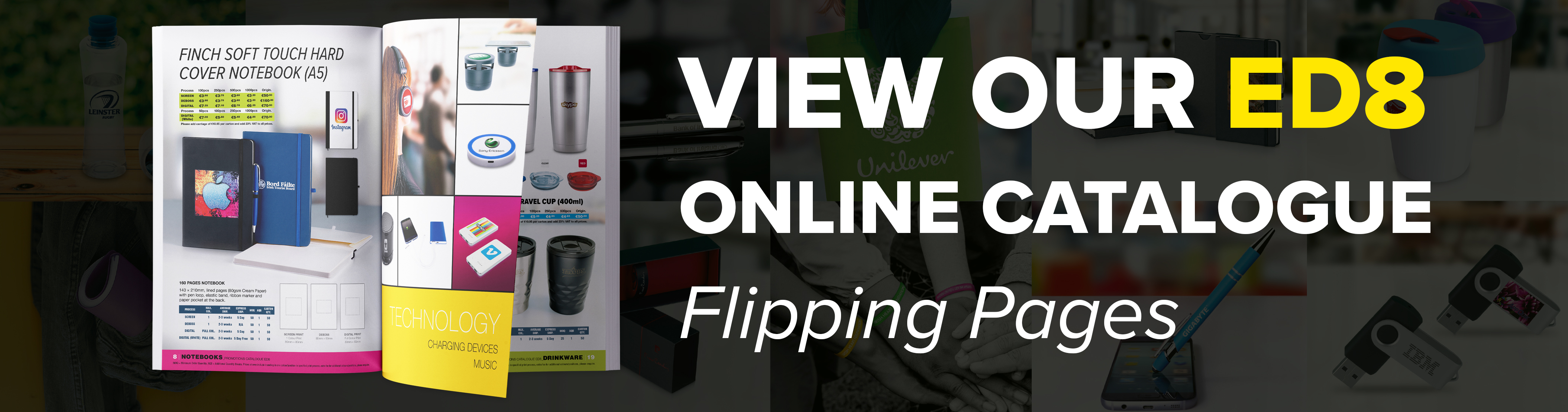View our flip page catalogue